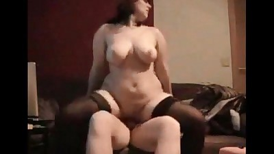 Curvy wife ass fucked on real..