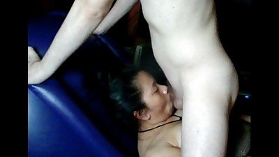 Asian wife works it