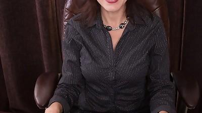 Boss lady Gina Louise undresses..