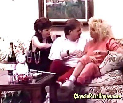 threesome fuck in retro 70s porno