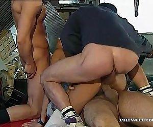Three men for..