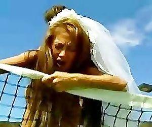 Brunette Asian bride fucked on..