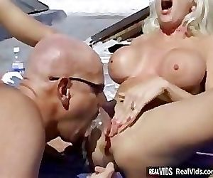 Blonde gets her pussy pounded on..