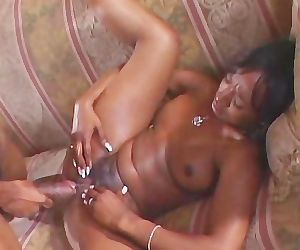 Ebony Chick Couch Fucked