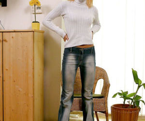 Adventurous amateur teen babe Lenka is a blonde with a lot..