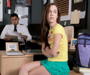 Young slut Trinity Rae fucks the schools security guard in..