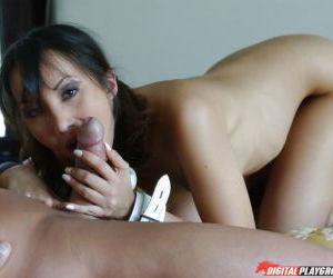 Horny Asian brunette Katsuni getting her ass fucked hardcore