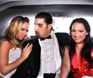 Lovable Sabrina Sweet and Aleska Diamond having groupsex..
