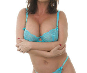Hot MILF Diamond Foxxx taking off her lingerie and..