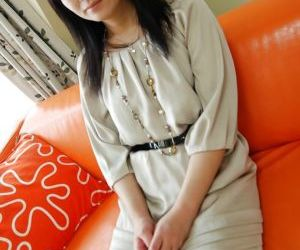 Cuddly asian MILF Chisato Miura strips down and gets..
