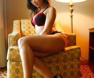 Asian beauty Katsuni is masturbating her tasty Japanese..