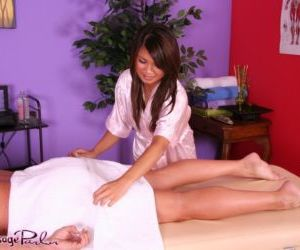 Asian massage attendant Annie Lee provides a happy ending..