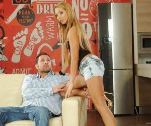 Ravishing slut with hot ass gets anally fucked for cum on..