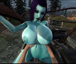 Soria - Big Titty 3D Elf Girl Tittyfucking + Sex Adventures with Tifa Lockhart 3D - part 4