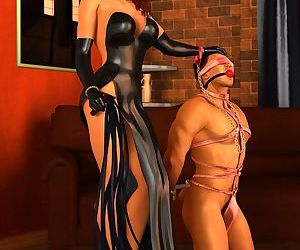 Female Domination Ballbusting & Chastity Cock Art