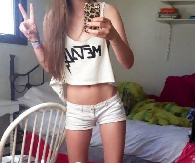 skinny teen in short shorts