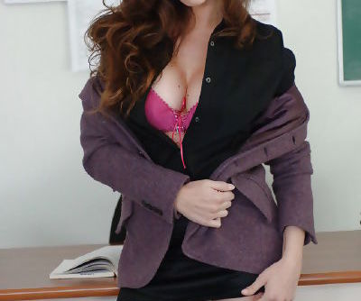 Awesome milf teacher brunette Rossi undressing her nasty body
